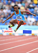 Yohanes  Chiappinelli (ITA) places third in the steeplechase in 8:32.89 during the IAAF Continental Cup 2018 at Mestkey Stadion in Ostrava, Czech Republic, Saturday, Sept. 8, 2018. (Jiro Mochizuki/Image of Sport)
