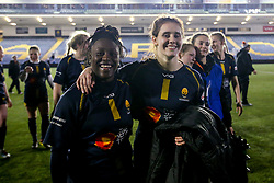 Akina Gondwe of Worcester Warriors Women and Megan Varley of Worcester Warriors Women - Mandatory by-line: Robbie Stephenson/JMP - 11/01/2020 - RUGBY - Sixways Stadium - Worcester, England - Worcester Warriors Women v Richmond Women - Tyrrells Premier 15s