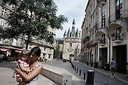 La place du palais, in the historic center of Bordeaux
