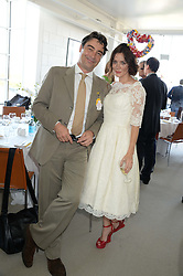 ANNA FRIEL and NATHANIEL PARKER at the 3rd day of the 2013 Glorious Goodwood racing festival - Ladies day at Goodwood Racecourse, West Sussex on 1st August 2013.