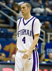 December 28, 2009; Berkeley, CA, USA;  Furman Paladins forward Noah States (4) during the second half against the UC Santa Barbara Gauchos at the Haas Pavilion.  UC Santa Barbara defeated Furman 72-60.