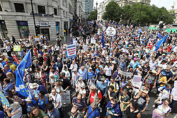 © Licensed to London News Pictures. 23/06/2018. London, UK. People's Vote march for a second EU referendum takes place in central London. Photo credit: Peter Macdiarmid/LNP