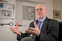 17 DEC 2019, BERLIN/GERMANY:<br /> Norbert Lammert, CDU, Vorsitzender der Konrad-Adenauer-Stiftung, KAS, waehrend einem Interview, in seinem Buero, Konrad-Adenauer-Stiftung<br /> IMAGE: 20191217-02-016<br /> KEYWORDS: Büro
