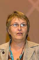 Hilary Bills, NUT, speaking at the TUC 2006...© Martin Jenkinson, tel 0114 258 6808 mobile 07831 189363 email martin@pressphotos.co.uk. Copyright Designs & Patents Act 1988, moral rights asserted credit required. No part of this photo to be stored, reproduced, manipulated or transmitted to third parties by any means without prior written permission