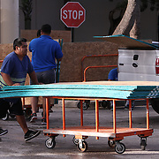 A rush for plywood at a local Home Depot as Floridians gather supplies Wednesday October 5, 2016, as they get ready for the arrival of Hurricane Matthew. Warnings are in place along much of Florida's Atlantic coastline, where Category 3 Hurricane Matthew<br /> Photography by Jose More
