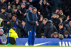 December 8, 2018 - London, Greater London, England - Maurizio Sarri manager of Chelsea celebrates the victory for 2-0 after the final whistle during the Premier League match between Chelsea and Manchester City at Stamford Bridge, London, England on 8 December 2018. (Credit Image: © AFP7 via ZUMA Wire)