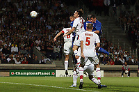 Photo: Paul Thomas.<br /> Lyon v Rangers. UEFA Champions League, Group E. 02/10/2007.<br /> <br /> Lee McCulloch (R) of Rangers scores his goal.