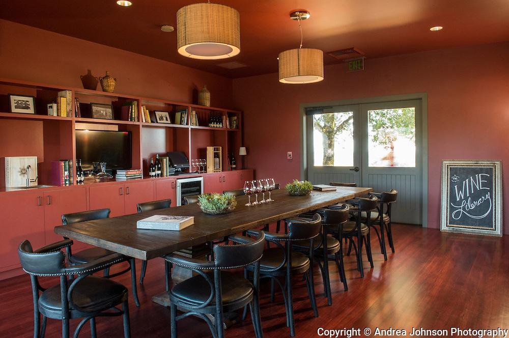 Sokol Blosser library tasting room, Dundee Hills, Willamette Valley, Oregon
