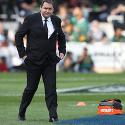 DURBAN, SOUTH AFRICA, 8 October, 2016 - Steve Hansen (Head Coach) of New Zealand during the Rugby Championship match between South Africa and New Zealand at Kings Park in Durban, South Africa. (Photo by Steve Haag)