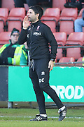 Manager Danny Cowley for Lincoln City during the EFL Sky Bet League 2 match between Crewe Alexandra and Lincoln City at Alexandra Stadium, Crewe, England on 26 December 2018.