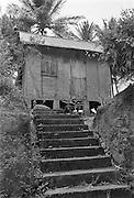 Hus på Trinidad i Västindien.