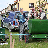 Paddy Kelly, James Fitzgerald and James Fairbrother on their German dumper at the Sixmilebridge Summer Festival at the weekend.<br />