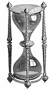 16th century hourglass: 19th century engraving