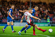 Sunderland captain Grant Leadbitter clears the ball during the EFL Sky Bet League 1 match between Rochdale and Sunderland at the Crown Oil Arena, Rochdale, England on 20 August 2019.