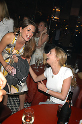 Left to right, MISS VANESSA NEUMANN and MISS CLEMMIE HAMBRO at a party hosted by Frankie Dettori, Marco Pierre White and Edward Taylor to celebrate the launch of Frankie's Italian Bar & Grill at 3 Yeoman's Row, London SW3 on 2nd September 2004.