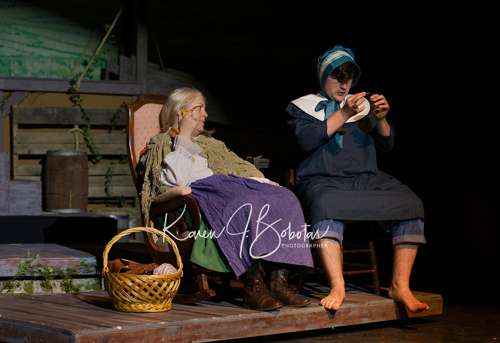 """Streetcar Company dress rehearsal for """"Big River - the Adventures of Huckleberry Finn"""" at the Inter Lakes community auditorium.  Karen Bobotas for the Laconia Daily Sun"""