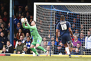Gillingham goalkeeper Stuart Nelson during the Sky Bet League 1 match between Southend United and Gillingham at Roots Hall, Southend, England on 19 March 2016. Photo by Martin Cole.