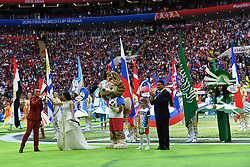 BEIJING, June 14, 2018  Photo taken on June 14, 2018 shows the opening ceremony of the 2018 FIFA World Cup in Moscow, Russia. (Credit Image: © Chen Cheng/Xinhua via ZUMA Wire)