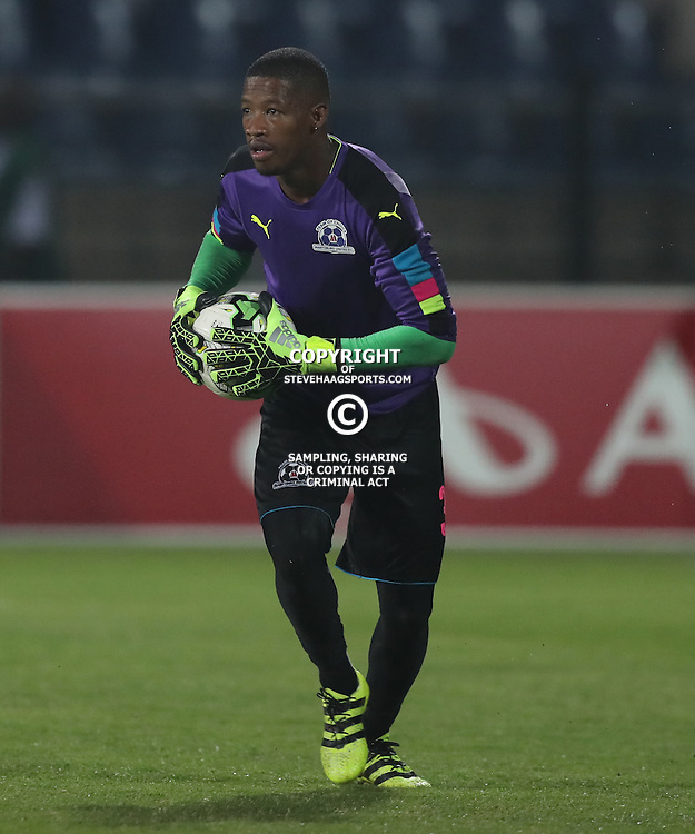 Virgil Vries G/K of Maritzburg Utd during the 2016 Premier Soccer League match between Maritzburg Utd and SuperSport United held at the Harry Gwala Stadium in Pietermaritzburg, South Africa on the 21st September 2016<br /> <br /> Photo by:   Steve Haag / Real Time Images