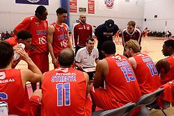 Bristol Flyers head coach Andreas Kapoulas speaks during a time out - Mandatory byline: Dougie Allward/JMP - 06/02/2016 - FOOTBALL - SGS Wise Campus - Bristol, England - Bristol Flyers v Newcastle Eagles - British Basketball League