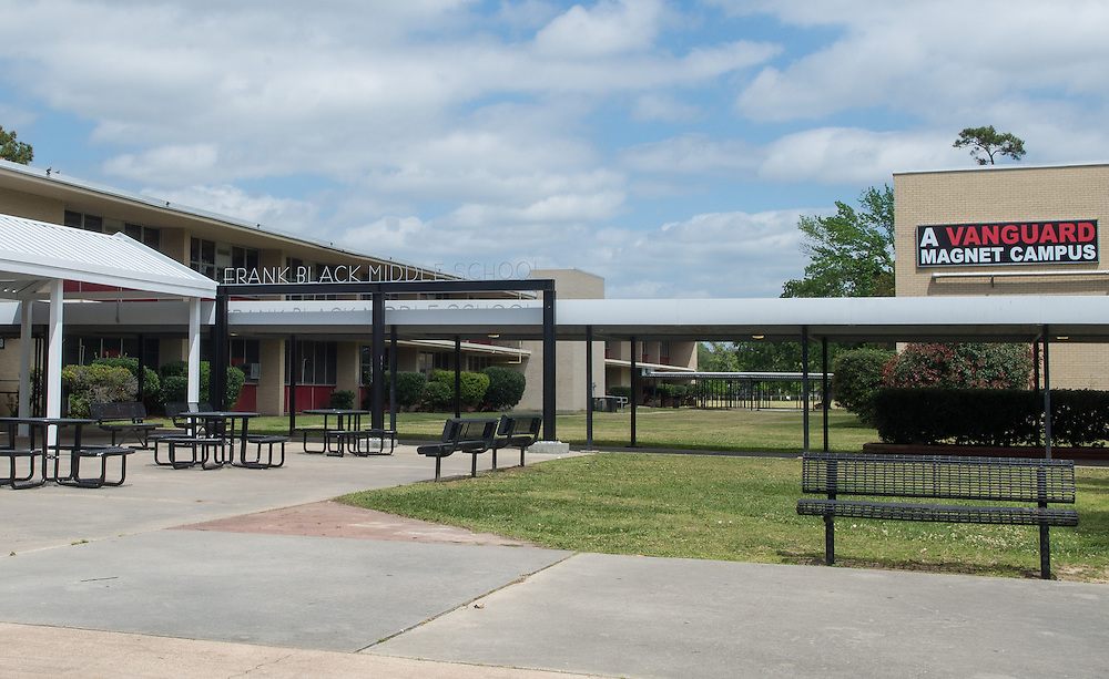 Frank Black Middle School photographed April 7, 2013. The school was a recipient of funds from the 2007 Bond.
