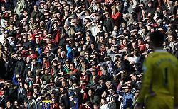 General view as Swansea fans looks on - Photo mandatory by-line: Harry Trump/JMP - Mobile: 07966 386802 - 21/03/15 - SPORT - FOOTBALL - Barclays Premier League - Aston Villa v Swansea City - Villa Park, Birmingham, England.