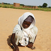 Kendrig camp for Internally Displaced People, West Darfur. Um Dowein school for girls.