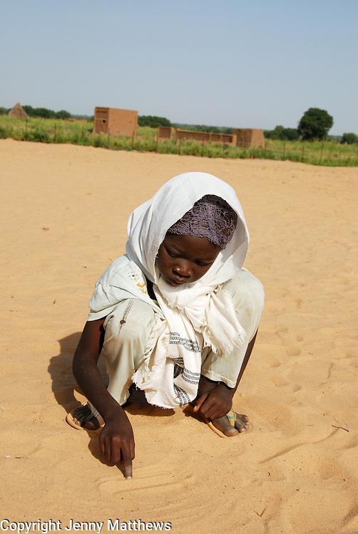 Kendrig camp for Internally Displaced People, West Darfur. Um Dowein school for girls.