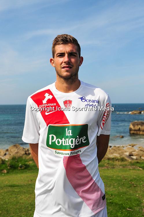 Corentin Jacob - 09.09.2015- Photo Officielle de Brest - Ligue 2<br /> Photo : Philippe Le Brech / Icon Sport