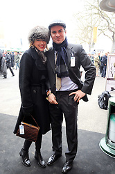 DANIEL PIRRIE and his wife TICKY HEDLEY-DENT at the Hennessy Gold Cup 2010 at Newbury Racecourse, Berkshire on 27th November 2010.