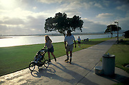 Cruising the waterfront at+Mission Bay, San Diego, CALIFORNIA