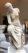 Marble statue of a seated muse. Roman 1st or 2nd century A.D.