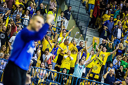 Fans of RK Celje PL during handball match between RK Celje Pivovarna Lasko (SLO) and SG Flensburg Handewitt (GER) in 3rd Round of EHF Men's Champions League 2018/19, on September 30, 2018 in Arena Zlatorog, Celje, Slovenia. Photo by Grega Valancic / Sportida