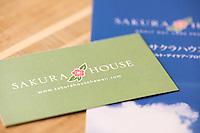 Logo, business card and brochure designs for Sakura House, an adult daycare program in Honolulu, Hawaii.