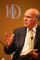 Institute of Directors Annual Convention, Albert Hall, London, UK...Dr Vince Cable MP. Liberal Democrat. Speaking at the convention.