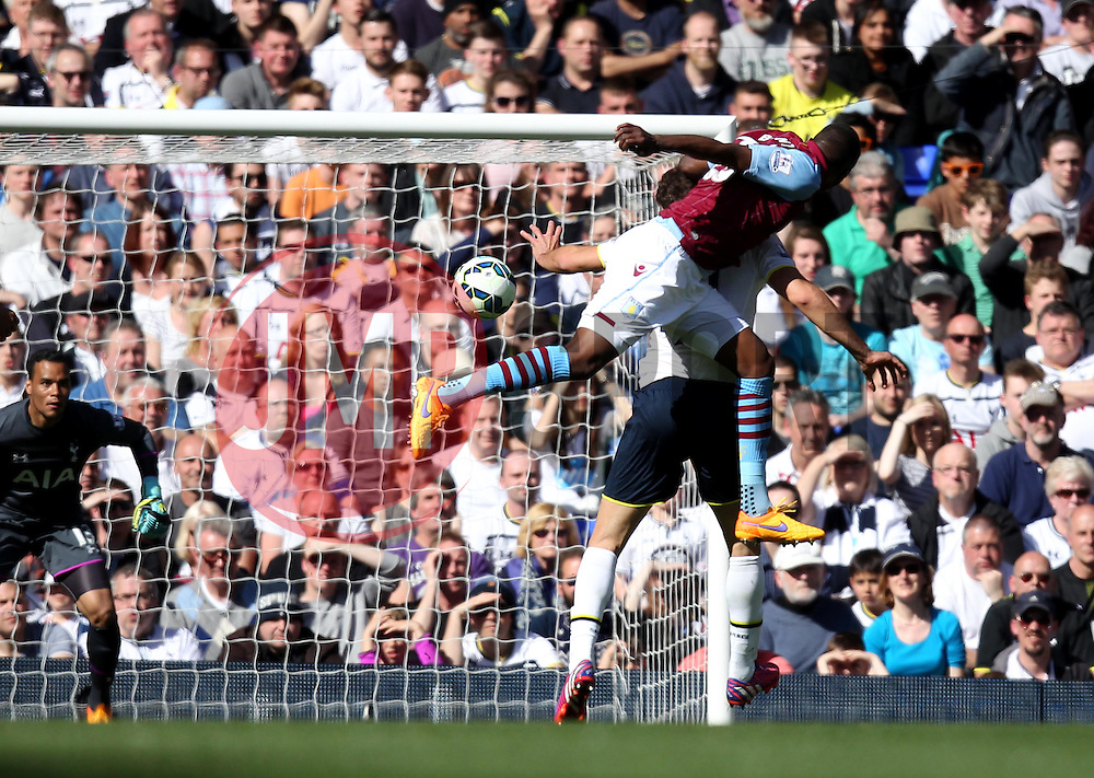 Aston Villa's Christian Benteke scores - Photo mandatory by-line: Robbie Stephenson/JMP - Mobile: 07966 386802 - 11/04/2015 - SPORT - Football - London - White Hart Lane - Tottenham Hotspur v Aston Villa - Barclays Premier League