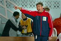Håndball VM, Tunis 2005, Sousse 24/01-05, <br />Norge - Qatar, <br />Gunnar Pettersen roper til spillerne på banen,<br />Foto: Sigbjørn Andreas Hofsmo, Digitalsport