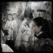 Holy Week procession in Granada, Andalusia, Spain