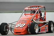 05 MAY 2007: Billy Wease (80) of Western Speed Racing sits on pit row before the start of the midget race at the Casey's General Stores USAC Triple Crown at the Iowa Speedway in Newton, Iowa on May 5, 2007.