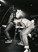 Faze One (Lee Bennett and Odell Johnson) on stage, Camden, London, UK, 1986-1987