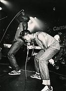 Faze One (Lee Bennett and Odell Johnson) on stage, Camden, London, UK, 1986-1987