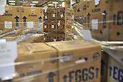 The North Texas Food Bank receives a donation of 216,000 eggs from Mahard Egg Farm, Inc. at their distribution center in Dallas on Thursday, March 28, 2013. (Cooper Neill/The Dallas Morning News)