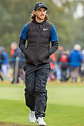 Tommy Fleetwood of England walking towards the 3rd tee during the British Masters 2018 at Walton Heath Golf Course, Walton On the Hill, Surrey on 14 October 2018. Picture by Martin Cole.