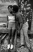 Junior Murvin and wife at home in Port Antonio Jamaica 1973