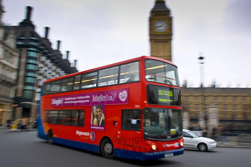 Red Double-Decker Bus, Parliament Square, London, United Kingdom