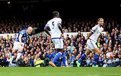 Everton's Steven Naismith scores his sides second goal to make it 2-0  - Mandatory byline: Matt McNulty/JMP - 07966386802 - 12/09/2015 - FOOTBALL - Goodison Park -Everton,England - Everton v Chelsea - Barclays Premier League
