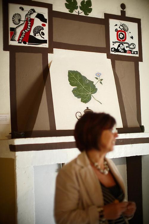 Tenno (TN) -  Borgo di Canale - Casa degli Artisti &quot;G. Vittone&quot;: particolare della  cucina con i  dipinti<br /> dell'Accademia di Brera.