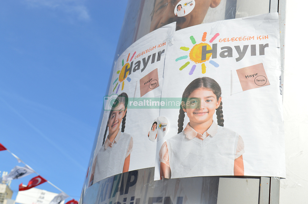 April 4, 2017 - Ankara, Cankaya, Turkey - 'No' campaign to the constitutional referendum on April 16 organized by the main opposition party Republican People's Party (CHP) in Ankara, Turkey, on April 4, 2017. (Credit Image: © Altan Gocher/Pacific Press via ZUMA Wire)