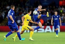 Daniel Drinkwater of Leicester City wins a tackle - Mandatory by-line: Matt McNulty/JMP - 27/09/2016 - FOOTBALL - King Power Stadium - Leicester, England - Leicester City v FC Porto - UEFA Champions League