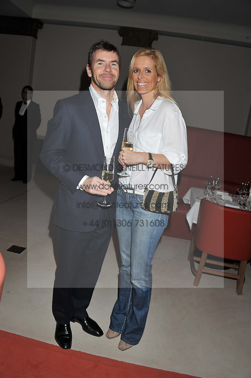 PAUL & VICTORIA STEWART at a private dinner hosted by Lucy Yeomans in honour of Jason Brooks at The Cafe Royal, Regent Street, London on 13th February 2013.